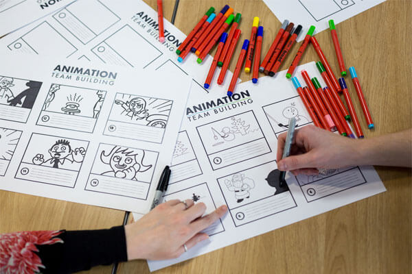 Animation group storyboard